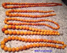Amber beads, coral beads, tusks of animals, etc