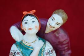 "Figurine ""Solokha and deacon """