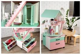 Ляльковий будиночок-модуль 3 в 1 - відмінний подарунок дитині