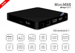 Мини M8SII TV Box Amlogic S905 Quad Core 2Ghz, 2G/8G