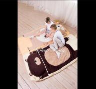 Спальний плед-конверт Мишка для дітей (є розміри)